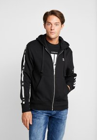 Tommy Hilfiger - LEWIS HAMILTON LEECE SWEAT ZIP THRU - Mikina na zip - black - 0