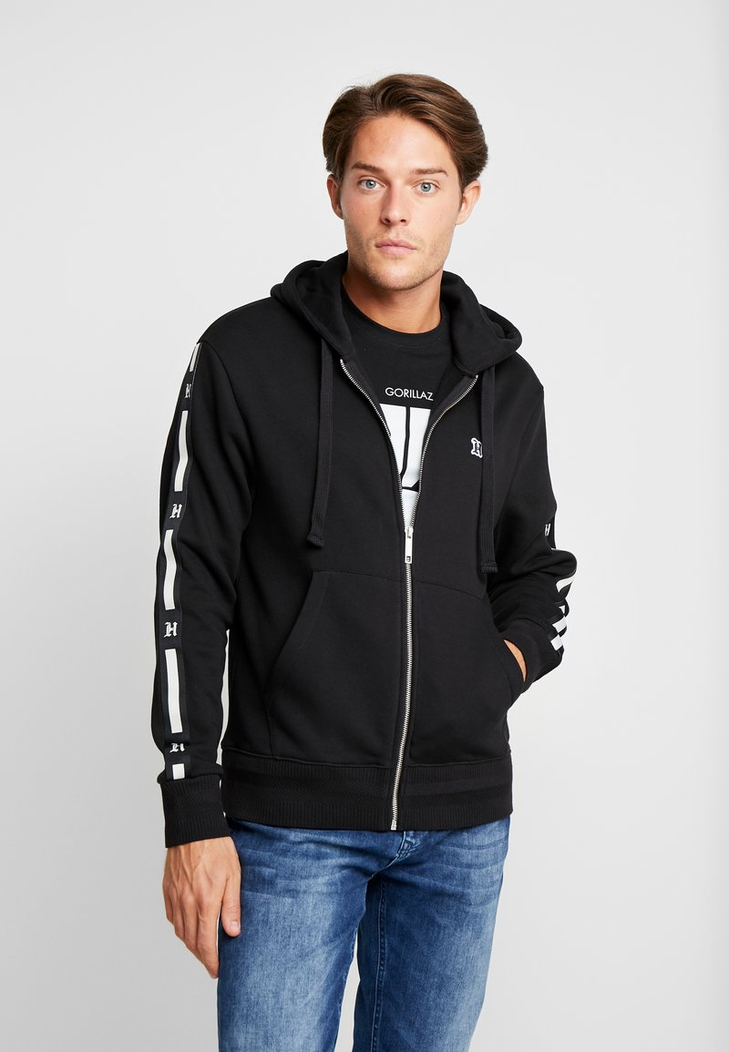 Tommy Hilfiger - LEWIS HAMILTON LEECE SWEAT ZIP THRU - Mikina na zip - black