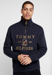 Tommy Hilfiger - ICON HALF ZIP MOCK NECK - Sweatshirt - blue - 0