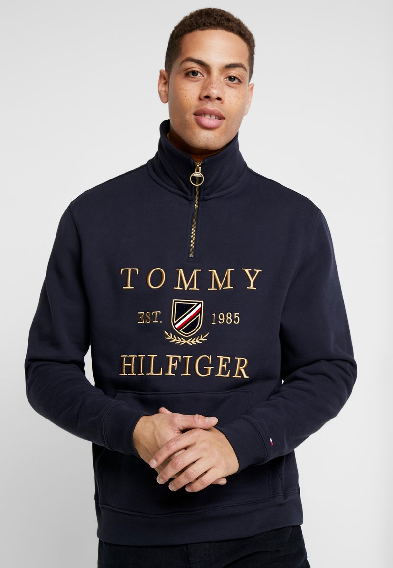 Tommy Hilfiger - ICON HALF ZIP MOCK NECK - Sweatshirt - blue