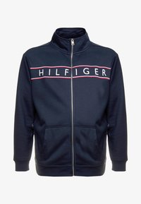 Tommy Hilfiger - LOGO ZIP THROUGH - Mikina na zip - blue - 4