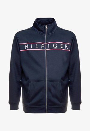 LOGO ZIP THROUGH - Zip-up hoodie - blue