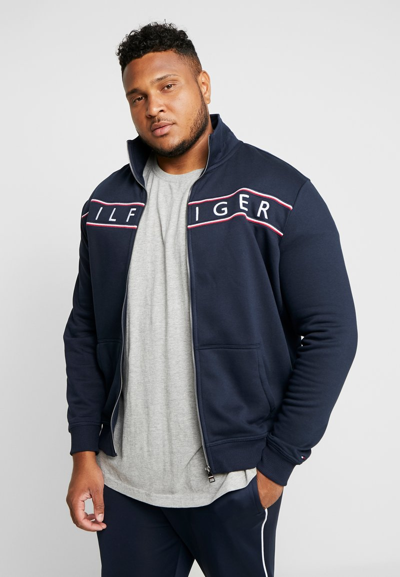 Tommy Hilfiger - LOGO ZIP THROUGH - Sweatjacke - blue