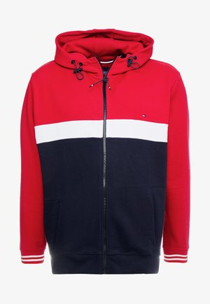 COLORBLOCKD HOODED ZIP - Sweatjacke - red