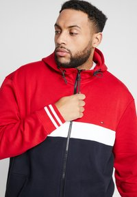 Tommy Hilfiger - COLORBLOCKD HOODED ZIP - Hettejakke - red - 3