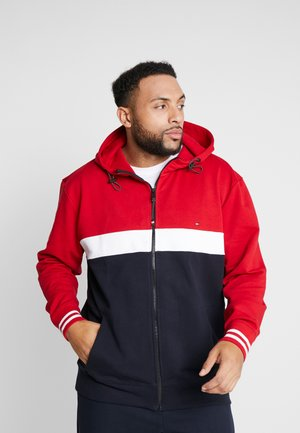 COLORBLOCKD HOODED ZIP - Mikina na zip - red