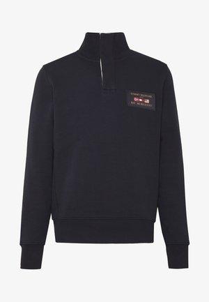 MOCK NECK PLACKET - Sweater - blue