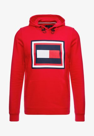 EMBOSSED HOODY - Mikina s kapucí - red