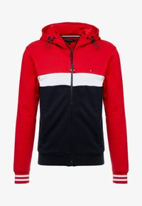 Tommy Hilfiger - COLORBLOCKED HOODED ZIP THROUGH - Mikina na zip - red - 4