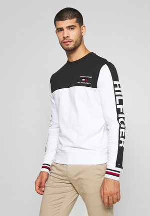 BRANDED COLORBLOCK CNECK - Sweater - white