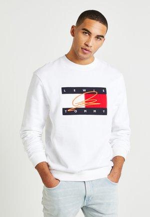 LEWIS HAMILTON FLAG CNECK SWEATSHIRT - Sweatshirt - white