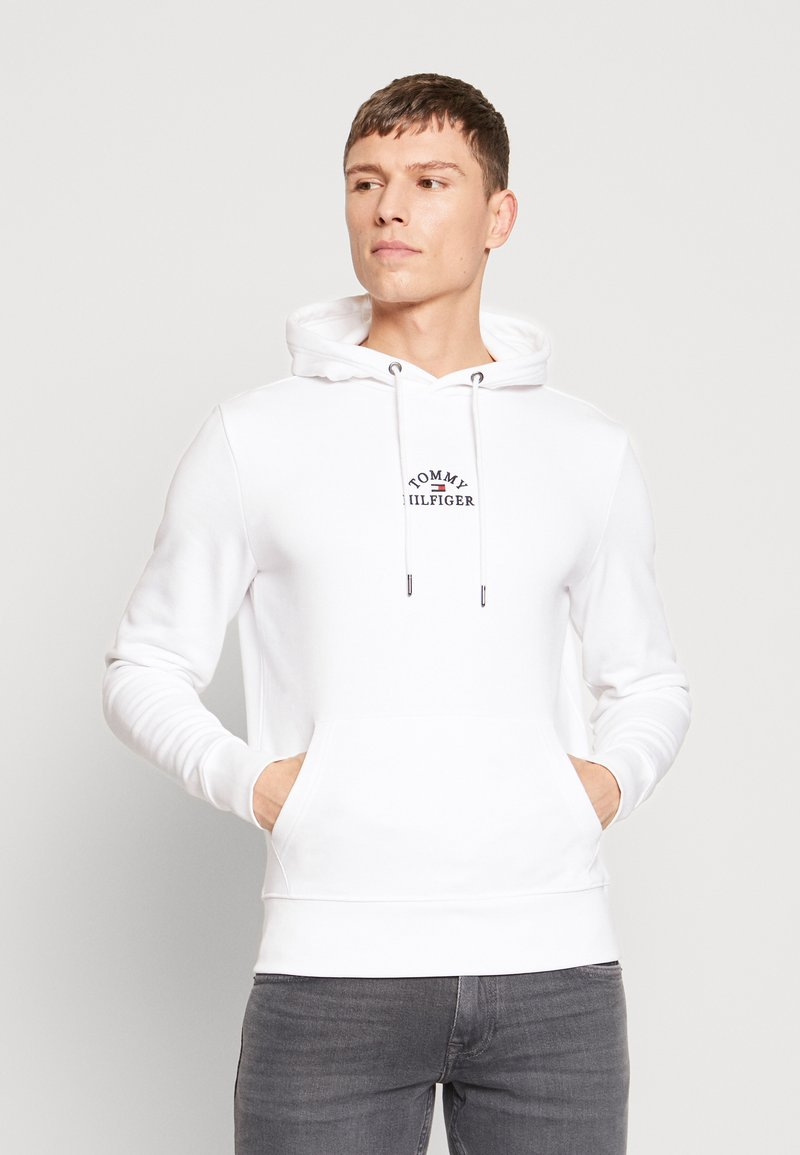 Tommy Hilfiger - BASIC EMBROIDERED HOODY - Hoodie - white