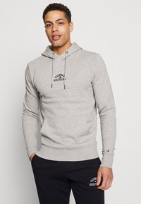 Tommy Hilfiger - BASIC EMBROIDERED HOODY - Hoodie - grey - 0