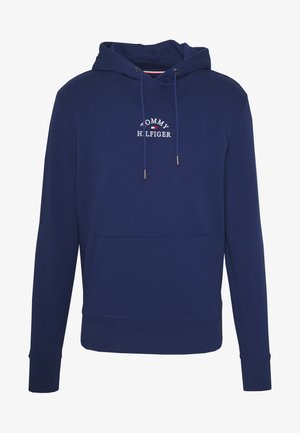 BASIC EMBROIDERED HOODY - Mikina s kapucí - blue