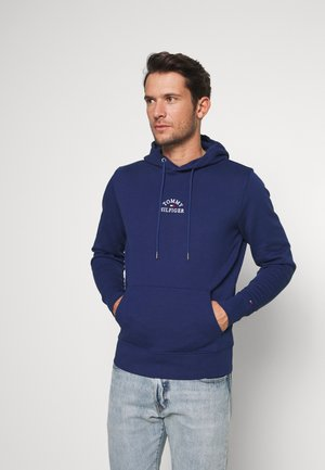 BASIC EMBROIDERED HOODY - Jersey con capucha - blue
