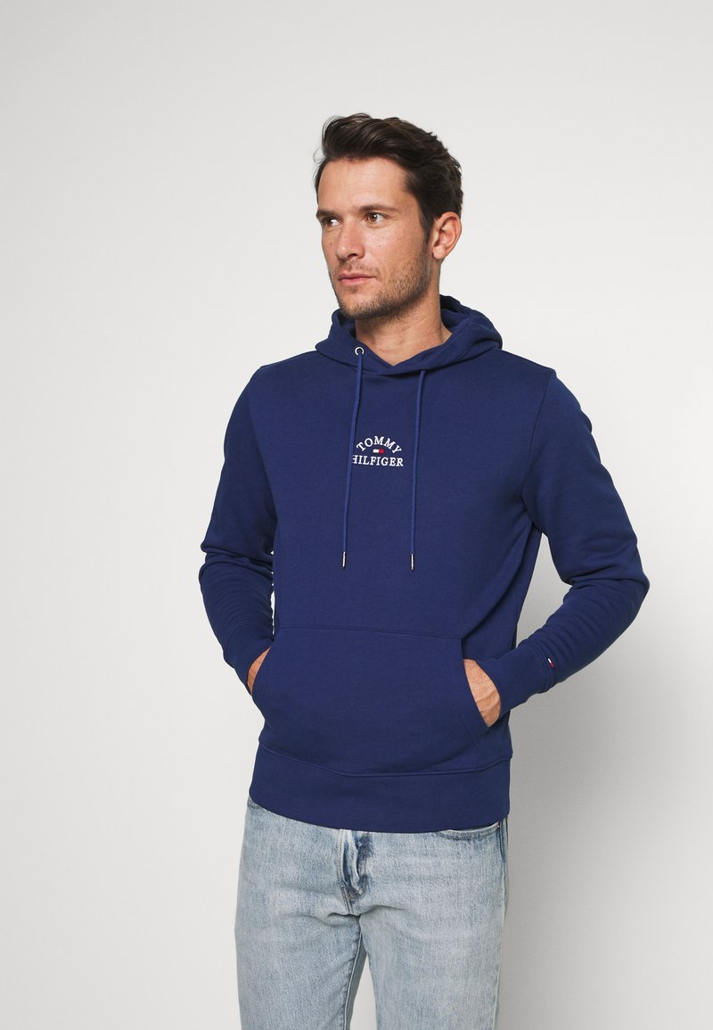 Tommy Hilfiger - BASIC EMBROIDERED HOODY - Hoodie - blue