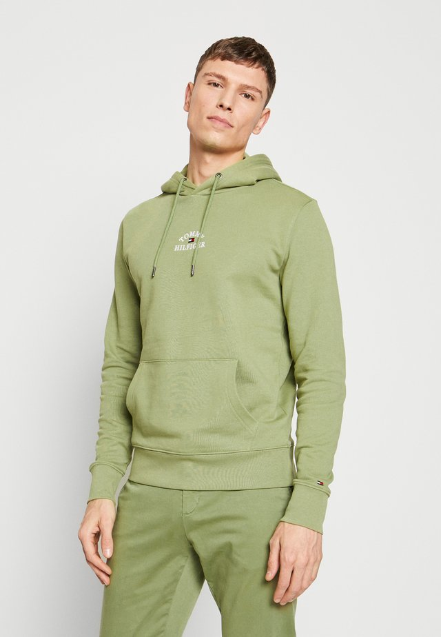 BASIC EMBROIDERED HOODY - Jersey con capucha - green