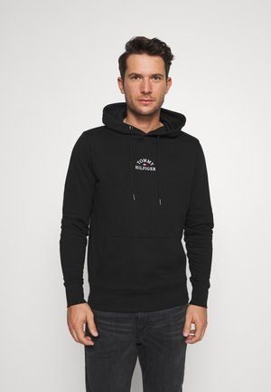 BASIC EMBROIDERED HOODY - Kapuzenpullover - black