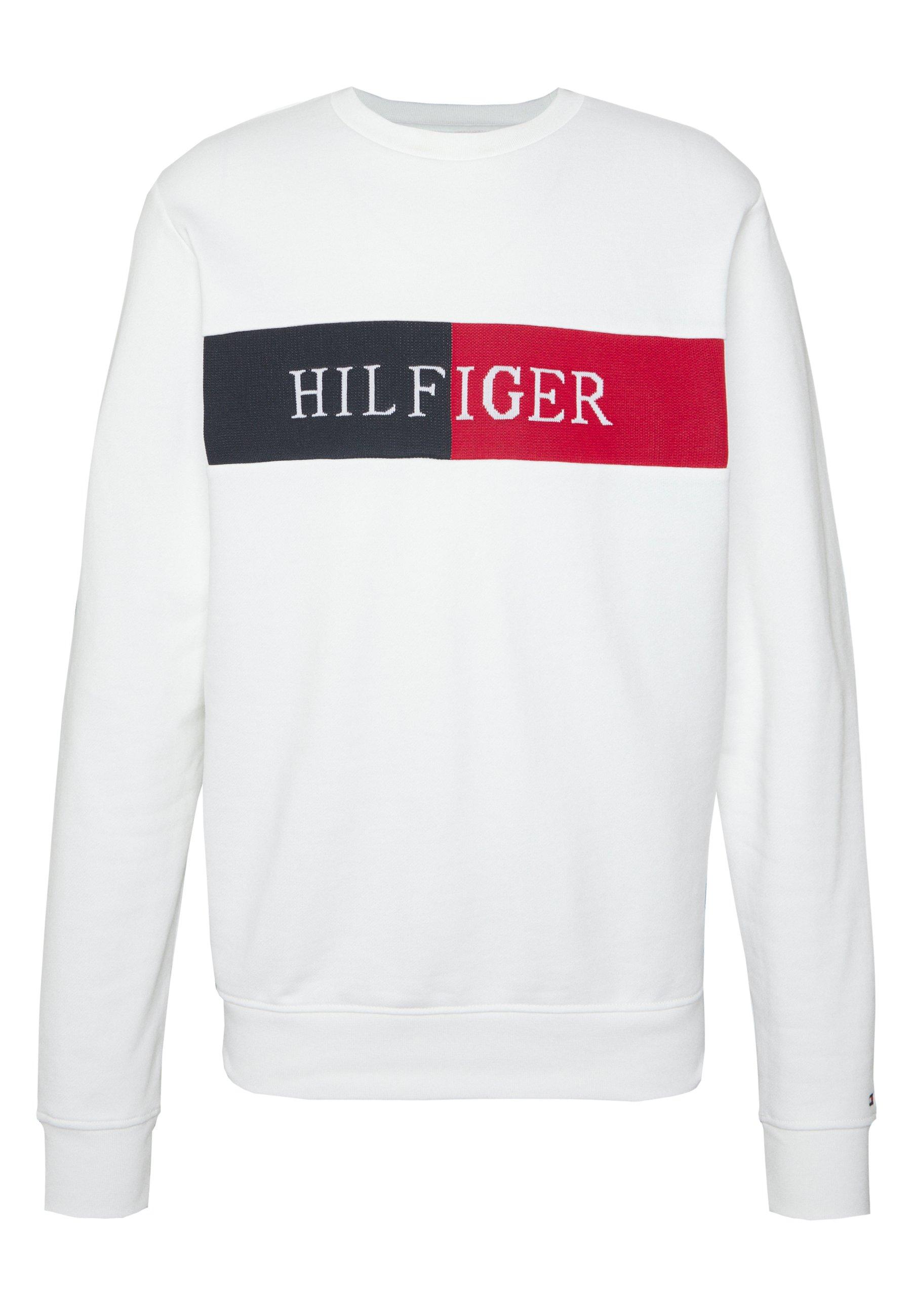 Tommy Hilfiger Intarsia - Sweatshirt White t9eE7W1u zs