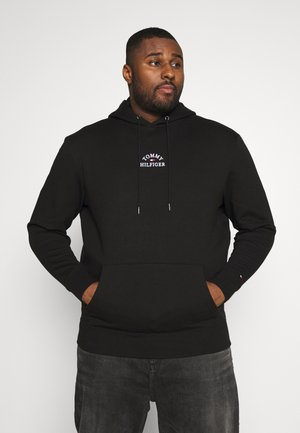BASIC EMBROIDERED HOODY - Hoodie - black