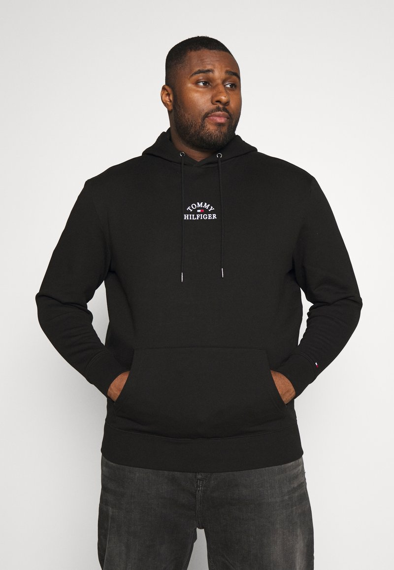 Tommy Hilfiger - BASIC EMBROIDERED HOODY - Hoodie - black