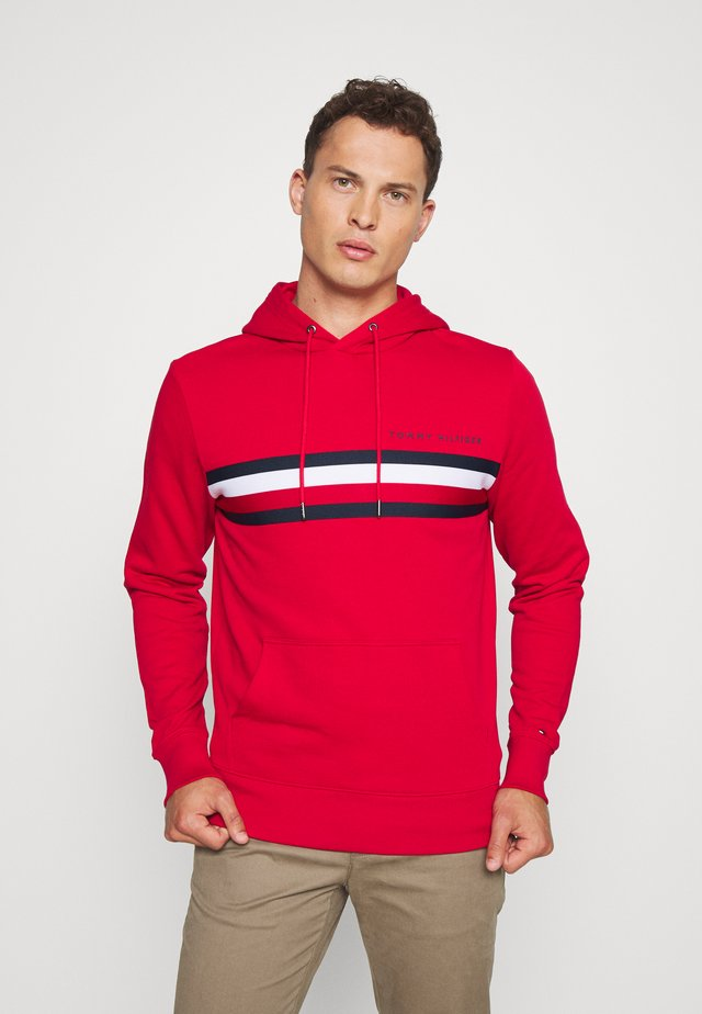 LOGO HOODY - Jersey con capucha - red