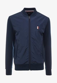 Tommy Hilfiger - MIXED MEDIA - Felpa aperta - blue - 4