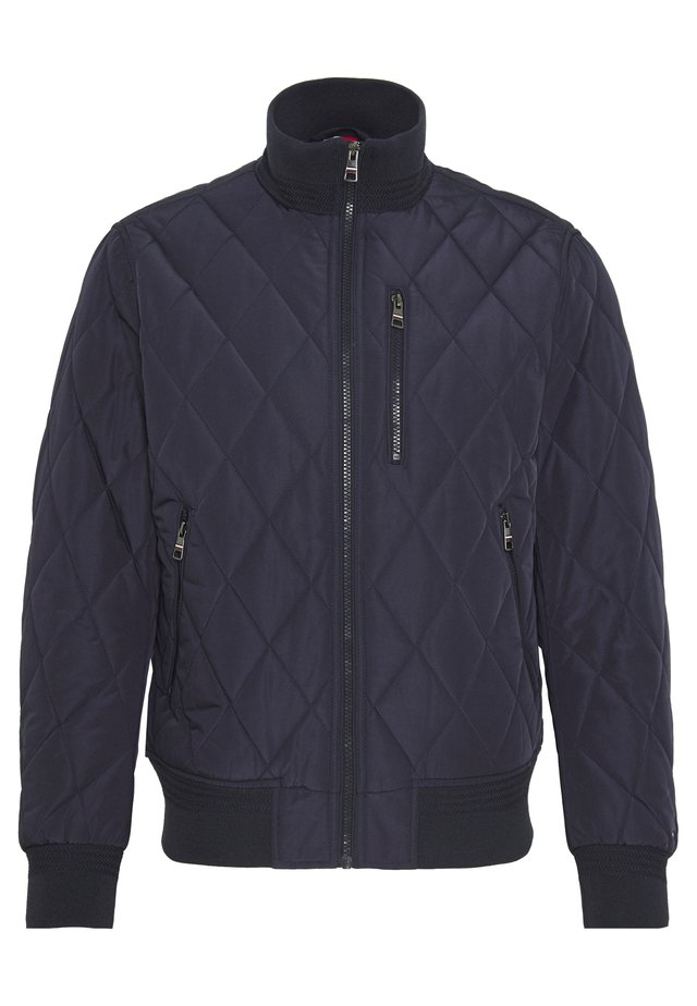 DIAMOND QUILTED BOMBER - Light jacket - blue