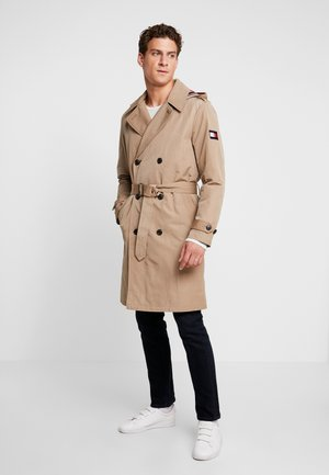 HOODED TRENCHCOAT - Gabardina - grey