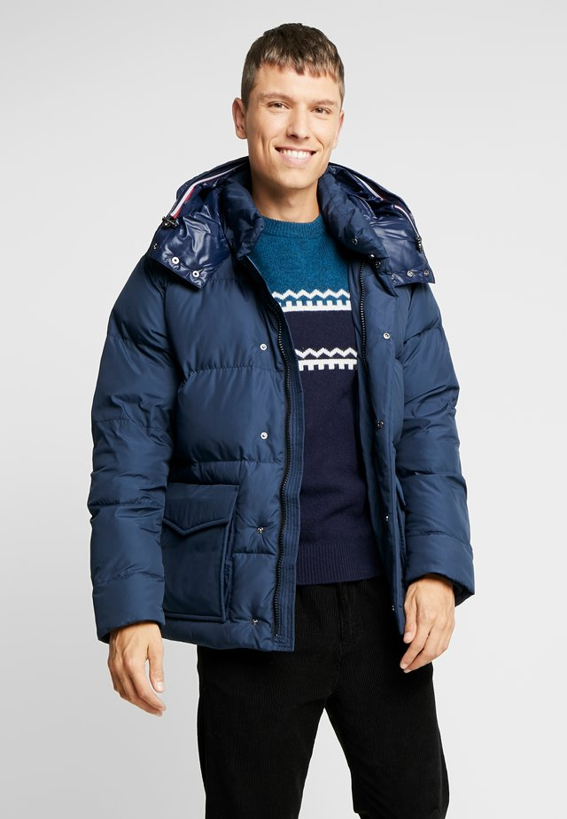 HOODED - Gewatteerde jas - blue