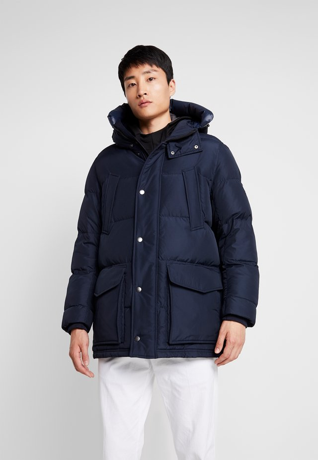 HOODED - Down coat - blue