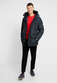 Tommy Hilfiger - HOODED - Daunenmantel - black - 1