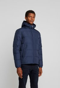 Tommy Hilfiger - HOODED REDOWN BOMBER - Piumino - blue - 3