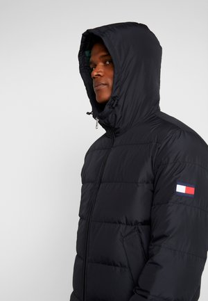 HOODED REDOWN BOMBER - Dunjacka - black