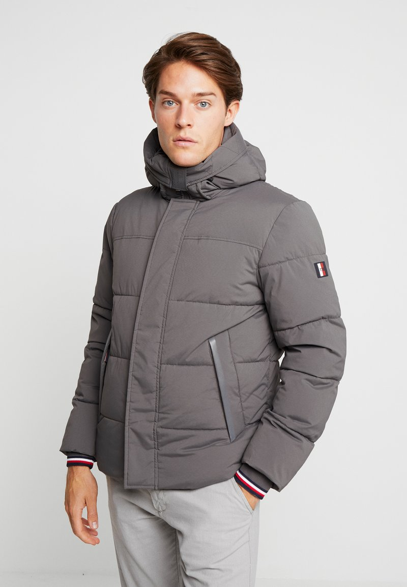 Tommy Hilfiger - STRETCH HOODED - Winterjacke - grey