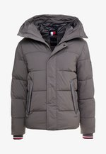 STRETCH HOODED - Winter jacket - grey