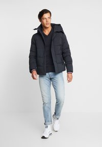Tommy Hilfiger - STRETCH HOODED - Winterjas - black - 1