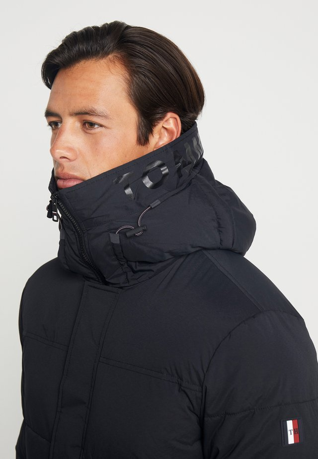 STRETCH HOODED - Winterjas - black