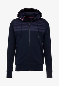 Tommy Hilfiger - MIXED MEDIA HOODED ZIP THROUGH - Kevyt takki - blue - 4