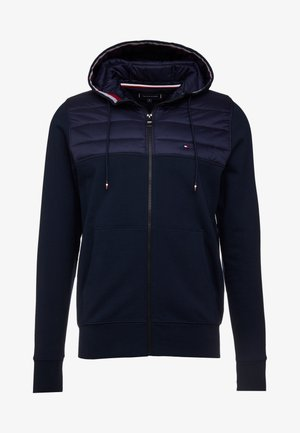 MIXED MEDIA HOODED ZIP THROUGH - Summer jacket - blue