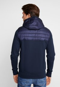 Tommy Hilfiger - MIXED MEDIA HOODED ZIP THROUGH - Kevyt takki - blue - 2