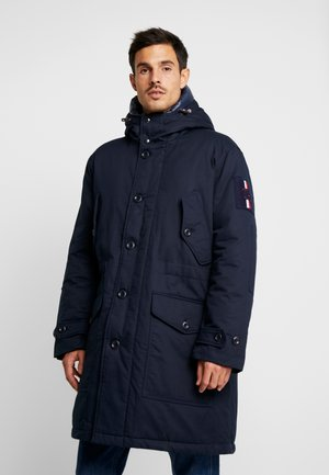 MONOGRAM HOODED - Winter coat - blue