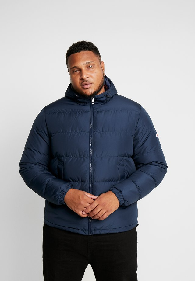 HOODED - Down jacket - blue
