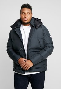 Tommy Hilfiger - HOODED BOMBER - Untuvatakki - black - 0