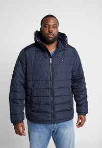 Tommy Hilfiger - QUILTED HOODED JACKET - Veste mi-saison - blue - 0