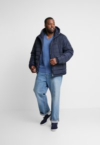 Tommy Hilfiger - QUILTED HOODED JACKET - Veste mi-saison - blue