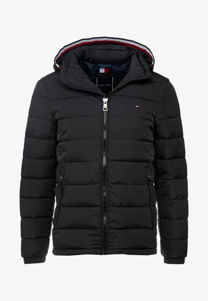 QUILTED HOODED JACKET - Välikausitakki - black