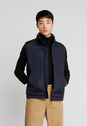 STRETCH QUILTED VEST - Waistcoat - black