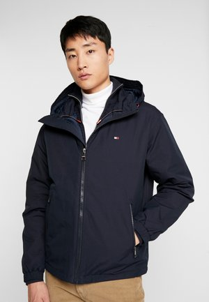 HOODED BLOUSON - Light jacket - blue