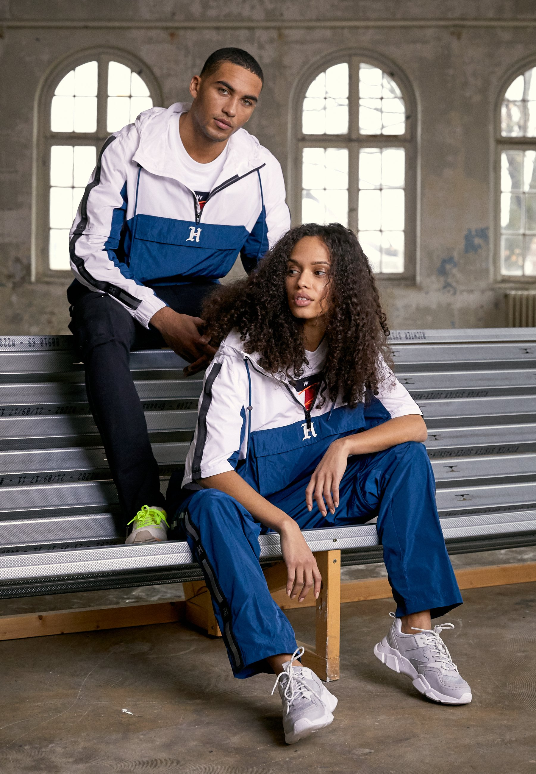 Tommy Hilfiger Lewis Hamilton Pop Over Tracksuit Top - Tunn Jacka White